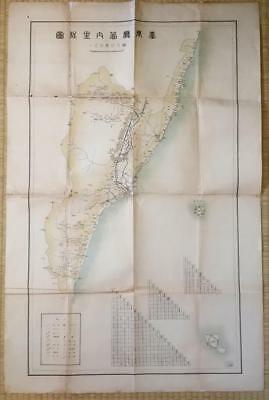 Taiwan Taito Map Prefecture 臺東 Taitung County Distance Map Under Japan Rule
