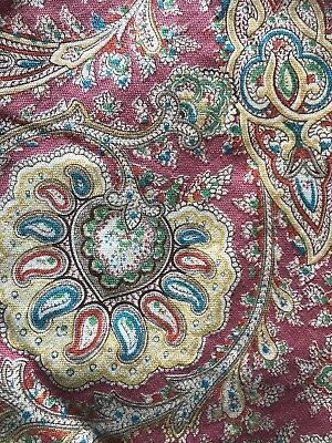 Vintage French Shabby Chic Pinks Paisley Fabric panel  reworking project