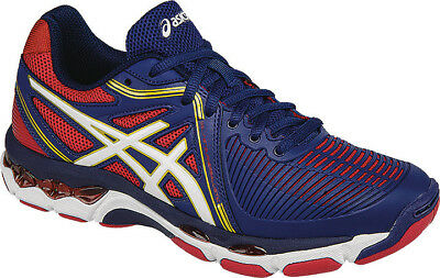 NEW ASICS Netburner Ballistic Netball shoe - Blue/Red  (RRP $190) Clearance