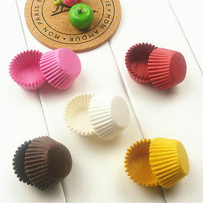 100pcs/lot White/Coffee Color Baking Muffin Cupcake Paper Cups Liner Wrapper CN