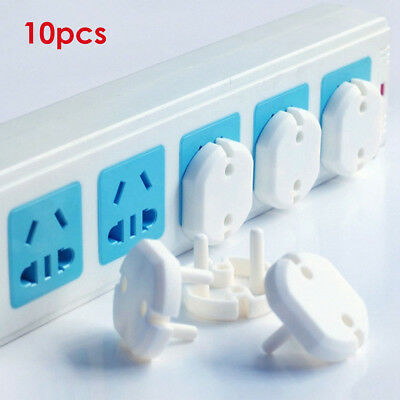 10PCS EU Power Socket Outlet Plug Safe Anti Electric Shock Plugs Protector Cover