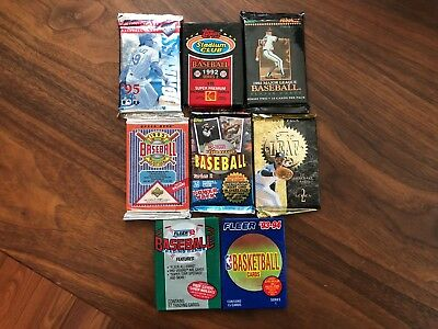 Awesome Lot of 115 Unopened Old Vintage Baseball Cards in Wax Cello Rack Packs!