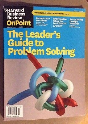 Harvard Business Review - The Leader's Guide to Problem Solving (Fall 2017)