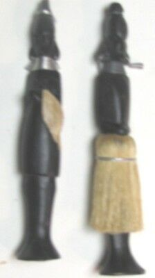 "(pgasteelers1)Hand Carved pair Kenya ebony Wooden figures 7 1/2""  Very Nice"