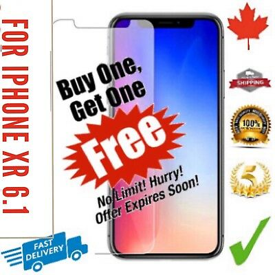 For iPhone XR Tempered Glass Screen Protector iPhone 6.1 ULTRA CLEAR Premium