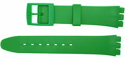 New 17mm (20mm) Sized Resin Strap Compatible for Swatch Watch Dark Green RG14DG