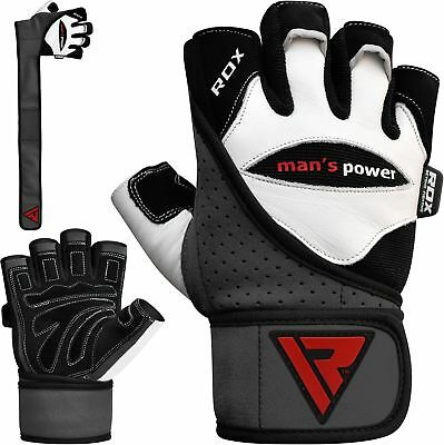 RDX Weight Lifting Gloves Training Gym Straps Fitness Bodybuilding Workout L1W