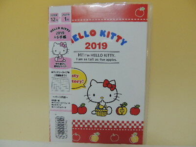 Hello Kitty 2019 A6 schedule note agenda Japan new Sanrio Type B
