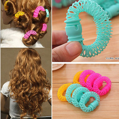 8 Pcs Hairdress Magic Bendy Hair Styling Roller Curler Spiral Curls DIY Tools EF