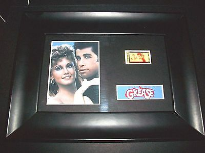 GREASE Framed Movie Film Cell Memorabilia Compliments poster dvd