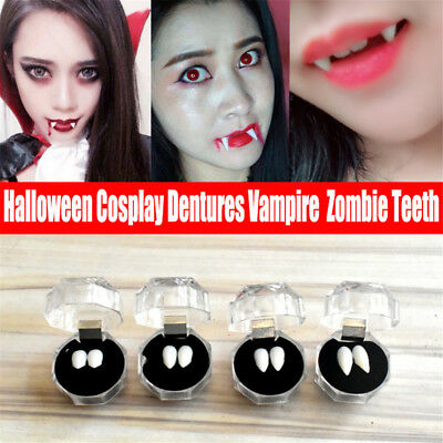 Halloween Cosplay Dentures Vampire Teeth Devil Fangs Costume Ghost Party Props H