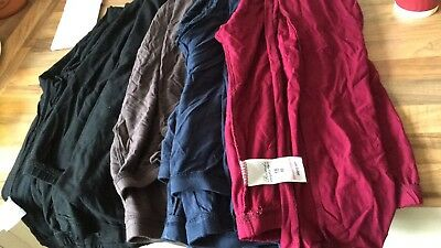 8 Pairs Of Size 18 Leggings Nearly New Maternity Burgundy Navy Brown Black