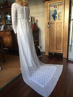 Vintage Wedding Gown 1950-1960s S