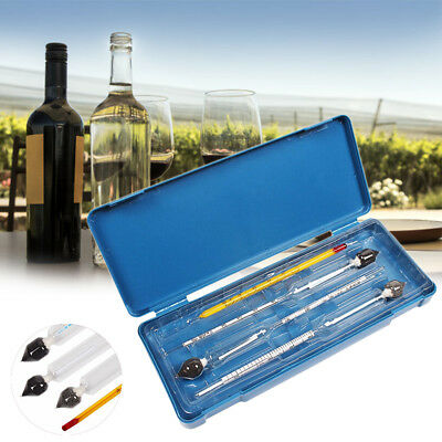 3PCS Set Hydrometer Alcohol Meter Vinometer Tester With one Thermometer Gadget