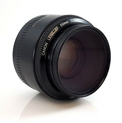 Canon EF 50mm 1:1.8  II Lens with Skylight Filter