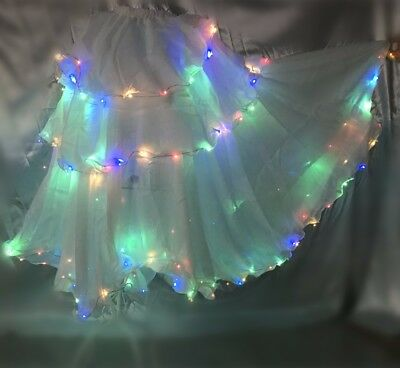 Performance LED Skirt dance LED Dress Belly Dance Costume Skirts fairy LED skirt