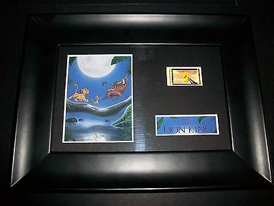 LION KING Framed Movie Film Cell Memorabilia Compliments poster dvd