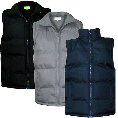 Kids Boys Heavy Padded Lined Quilted Gilet Sleeveless Girls Body Warmer Jacket