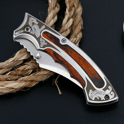 """7.5"""" Pocket Folding Tactical Military Survival Outdoor Hunting Blade Open Knife"""