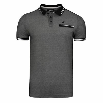 KANGOL Mens Big Size Pique Polo Shirt (Rumi)