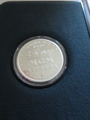 Disney MGM Studios Opening Silver Coin LE One Troy Oz. .999 Fine Silver 1989