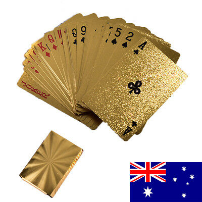 2X GOLD Madison Deck Playing Cards Magic Poker New