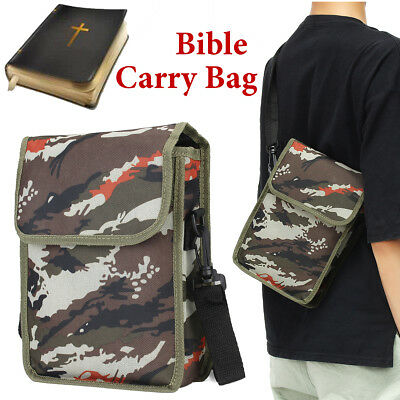 Bible Cover Zipper Protective Holy Book Tote Bag Religious Carry Case Camouflage