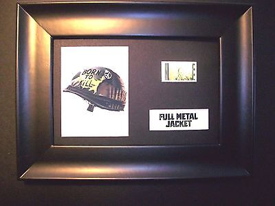 FULL METAL JACKET Framed Movie Film Cell Memorabilia Compliments poster dvd