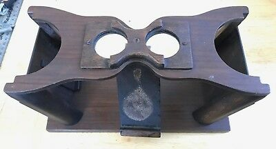 Antique Stereoscope / Cheiroscope Optical Device with Eyepiece. Wood Base