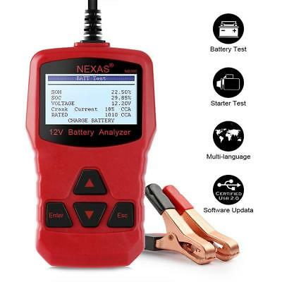 NEXAS NB300 12V Battery Load Tester &Charging System Analyzer For Car/Motorcycle
