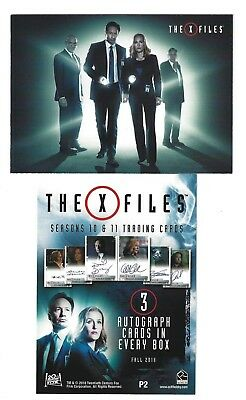 X-Files Seasons 10 & 11 Promo Card P2