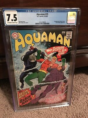 Aquaman #35 CGC 7.5 OW/W 1st Manta Movie 12/2018 Hot Silver Key (xCBCS)