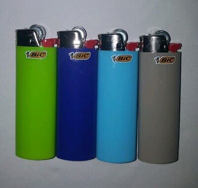 BIC J26 LARGE MAXI (4 PACK) DISPOSABLE GAS LIGHTER TOBACCO CIGARETTE New