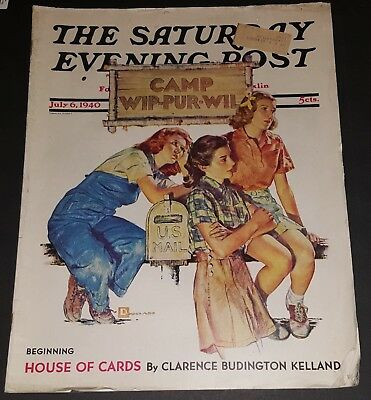 1940 SATURDAY EVENING POST Magazine Articles, stories pictures JULY 6 FREE S/H 7