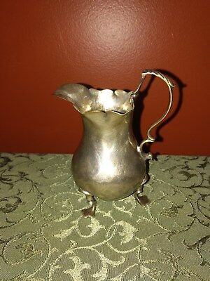 Georgian Silver Potbellied Cream Jug with Leaf Capped Scroll Handle Pre 1800