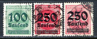 Germany Postage Stamps Scott 254-255, 259, Used Partial Set!! G659b