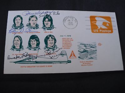 Women in Space cover, 6x orig.signed incl. RESNIK, SPACE