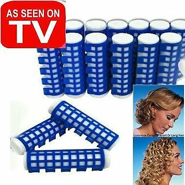 """Evelots 18 Heated Hair Curlers Advanced Hold Rollers, 1/2"""" or 1"""" Diameter"""