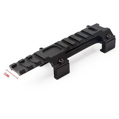 Hunting Long 128mm Scope Mount Base 20mm Rail Metal For  Airsoft Scope