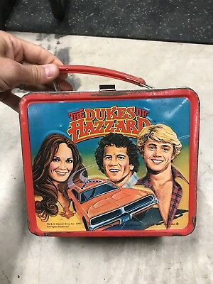 The Dukes of Hazzard metal lunch box and thermos set by Aladdin, Vintage 1980
