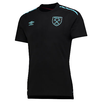 Official West Ham United Away Shirt Jersey Tee Top 2017-18 Kids Football Umbro