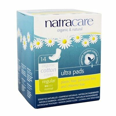 Natracare Pads Ultra With Wings, 14 ct  (2 Pack)