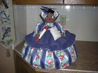 ~~TOASTER COVER DOLL~~For a 2 slice toaster~~Black Americana Mammy~~