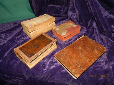 Lot of 4 Very Old Rare Antique Religious Books: 1813, 1813, 1869 & 1891