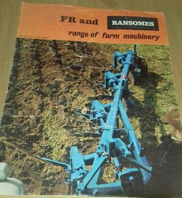 Vintage FR (Ford-Ransomes) & Ransomes colour/B&W promotional sales brochure.