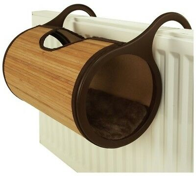 Rosewood Jolly Moggy Bamboo Radiator Bed Fur Cushion For Cats -Nqp