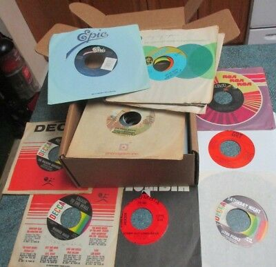 """COUNTRY / WESTERN 1960s-1980s Lot of (50) 45's Records Jukebox 7"""" 45 RPM Vinyl"""