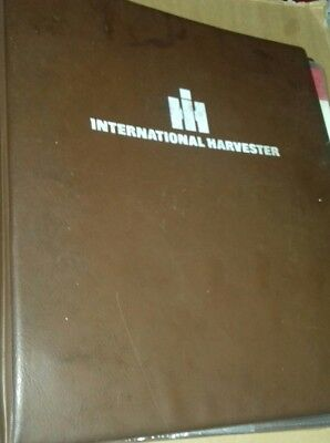 International Harvester ring binder with a qty of farm implement promo brochures