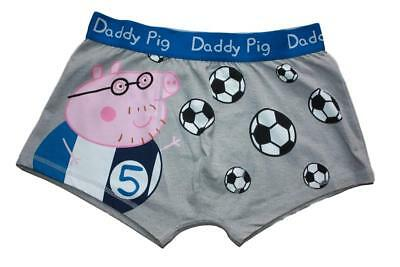 a9ff65fb5046ae Peppa Pig ( Size S & M ) Daddy Pig Football - Men's Boxer Shorts,