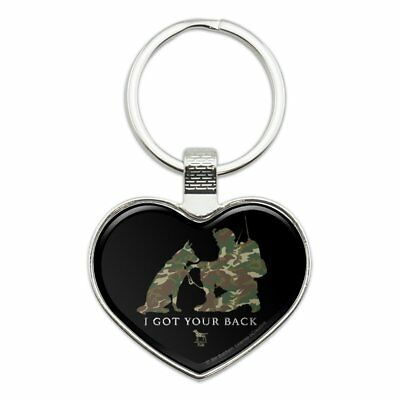Got Your Back Soldier Shepherd Camo Jacket Handbag Purse Zipper Pull Charm